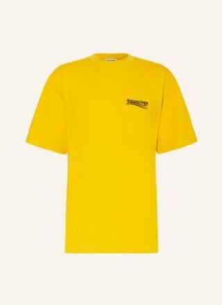 Balenciaga Oversized-Shirt Herren, Gelb