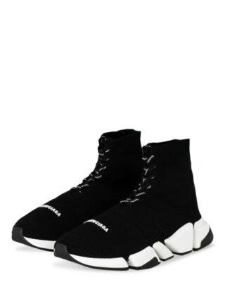 Balenciaga Speed 2.0 Lace-Up Hightop-Sneaker Herren, Schwarz