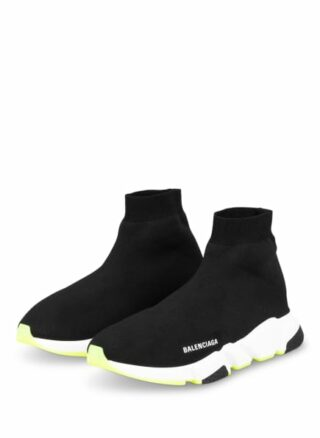 Balenciaga Speed Hightop-Sneaker Herren, Schwarz