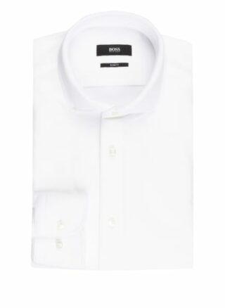 Boss Hank Jerseyhemd Herren, Weiß