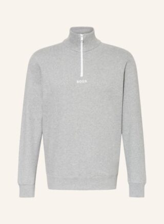 Boss Zapper Sweatshirt Herren, Grau