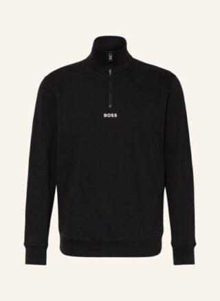 Boss Zapper Sweatshirt Herren, Schwarz