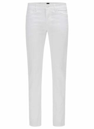 Boss delaware3 1 20 Slim Fit Jeans Herren, Weiß