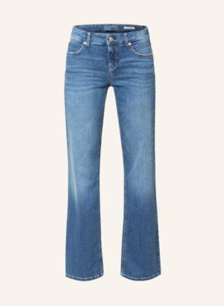CAMBIO Tess Flared Leg Jeans Damen, Blau