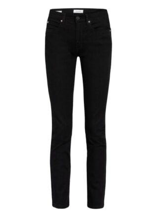 Calvin Klein Slim Fit Jeans Damen, Schwarz