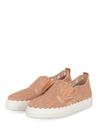Chloé Slip On Sneaker Damen, Pink