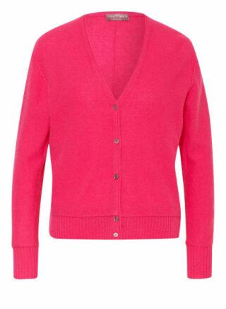 CosyLovePure Cashmere-Strickjacke Damen, Pink