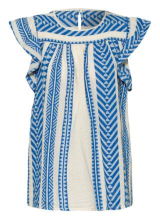 Devotion Blusentop Damen, Blau