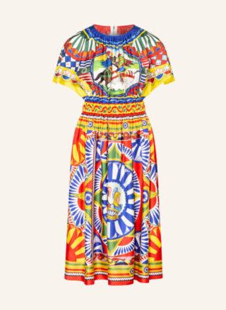 Dolce&Gabbana Ausgestelltes Kleid Damen, Gelb