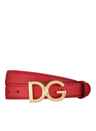 Dolce&Gabbana Ledergürtel Damen, Rot