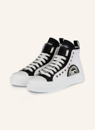 Dolce&Gabbana Portofino Hightop-Sneaker Damen, Schwarz