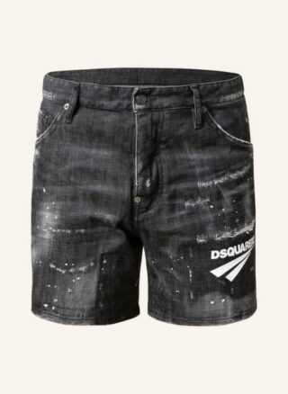 Dsquared2 Dan Jeans-Shorts Herren, Schwarz