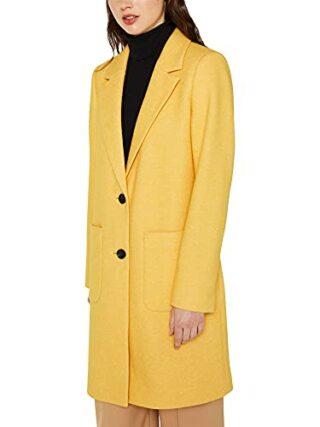 ESPRIT Wollmantel Damen, Gelb