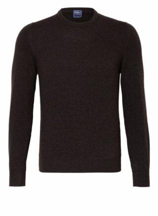 FEDELI Argentina Cashmere-Pullover Herren, Braun