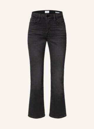 FRAME DENIM Le Crop Mini Boot Bootcut Jeans Damen, Grau