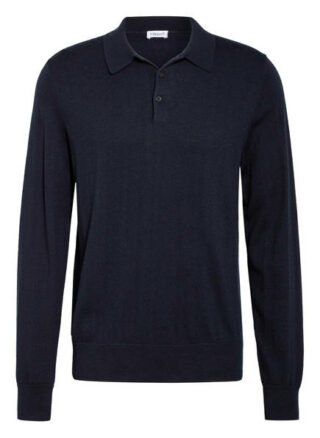 Filippa K Strick-Poloshirt Herren, Blau