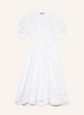 Ganni Maxikleid Damen, Weiß