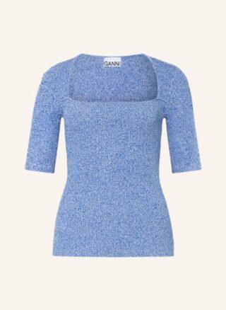 Ganni Strickshirt Damen, Blau