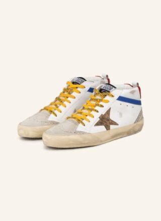 Golden Goose Mid Star Sneaker Herren, Weiß