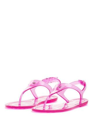 HUGO Emma Flat Sandal Tr Sandalen Damen, Pink