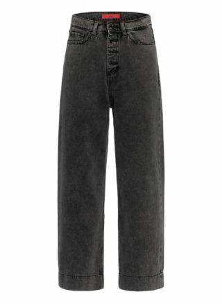 HUGO Ganini Jeans-Culotte Damen, Schwarz