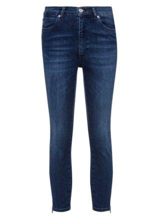 HUGO Lou/6 Cropped Slim Fit Slim Fit Jeans Damen, Blau