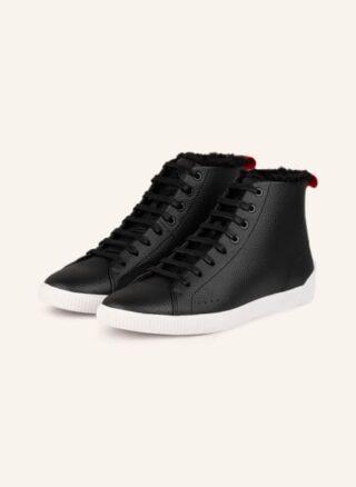 HUGO Zero Hito Hightop-Sneaker Damen, Schwarz