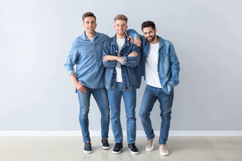 Herren Jeans, Männer in Jeans, Blaue Jeans für Herren, Slim-Fit Jeans, Regular Fit Jeans