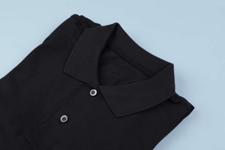 Herren Poloshirt, Polo-Shirts Schwarz Mann, Schwarzes Herren Polo
