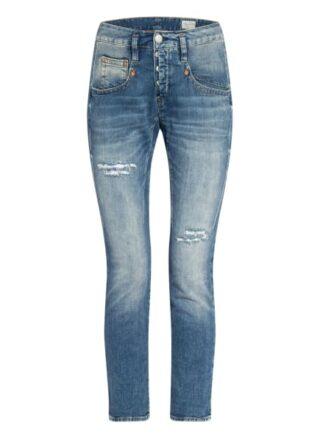 Herrlicher Shyra Cropped Boyfriend Jeans Damen, Blau
