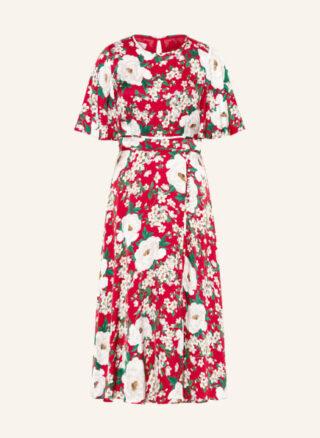 Hobbs Bella Ausgestelltes Kleid Damen, Rot