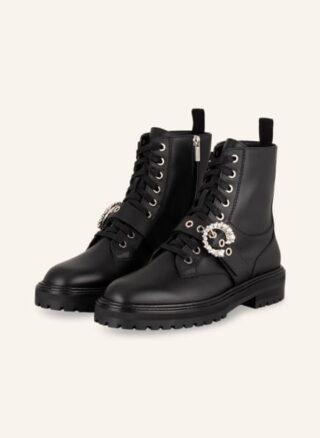 Jimmy Choo Cora Biker Boots Damen, Schwarz