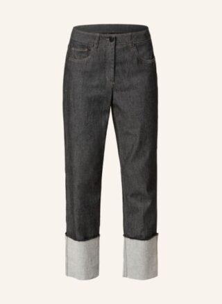 LUISA CERANO Jeans Straight Leg Jeans Damen, Schwarz