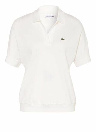 Lacoste Piqué-Poloshirt Damen, Weiß