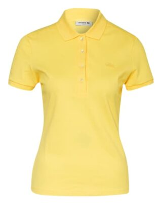 Lacoste Slim Fit Piqué-Poloshirt Damen, Gelb