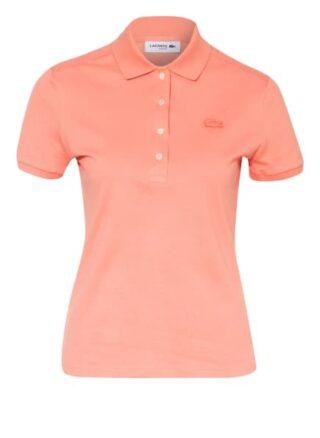 Lacoste Slim Fit Piqué-Poloshirt Damen, Rot