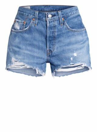 Levis 501 Jeans-Shorts Damen, Blau