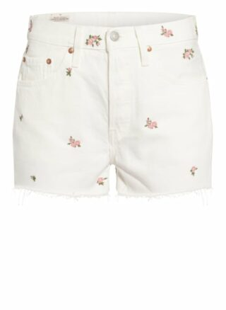 Levis 501 Original Jeans-Shorts Damen, Weiß