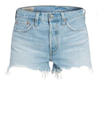 Levis 501 Original Short Jeans-Shorts Damen, Blau