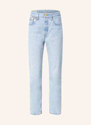 Levis Jeans 501 Crop Straight Leg Jeans Damen, Blau