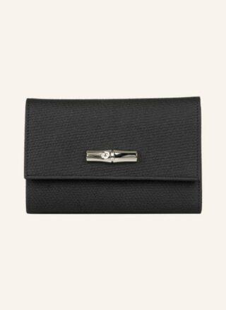 Longchamp Roseau Geldbörse Damen, Schwarz