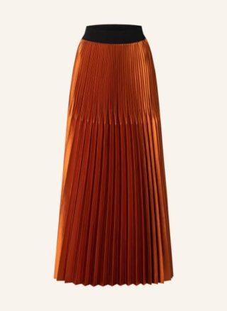 MAX & Co. Baule Plisseerock Damen, Orange