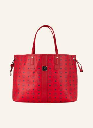 MCM Liz Candy Red Large Shopper Damen, Rot