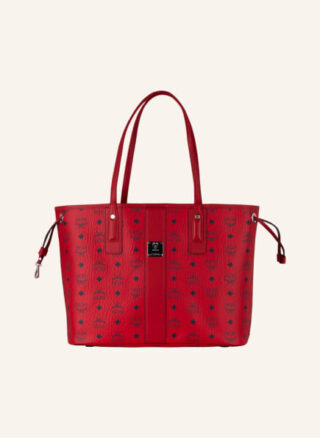 MCM Liz Candy Red Medium Shopper Damen, Rot