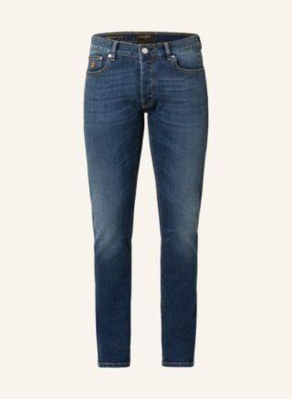 MOORER Credi Slim Fit Jeans Herren, Blau