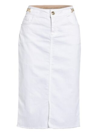 MOS MOSH Selma Jeansrock Damen, Weiß