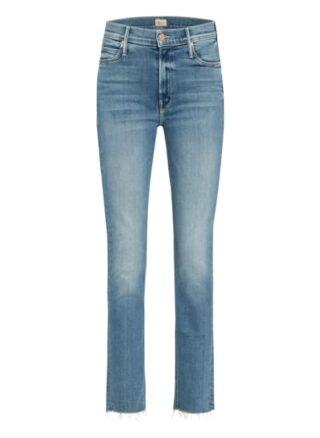 MOTHER Dazzler Ankle Fray Straight Leg Jeans Damen, Blau