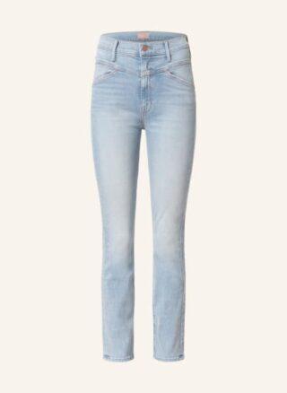 MOTHER Jeans The Dazzler Yoke Front Ankle Straight Leg Jeans Damen, Blau