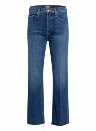 MOTHER Jeans The Tripper Ankle Fray Straight Leg Jeans Damen, Blau