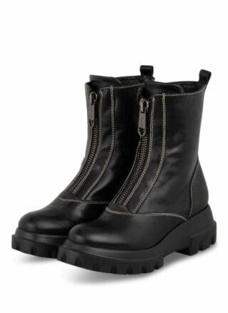Marc Cain Boots Biker Boots Damen, Schwarz